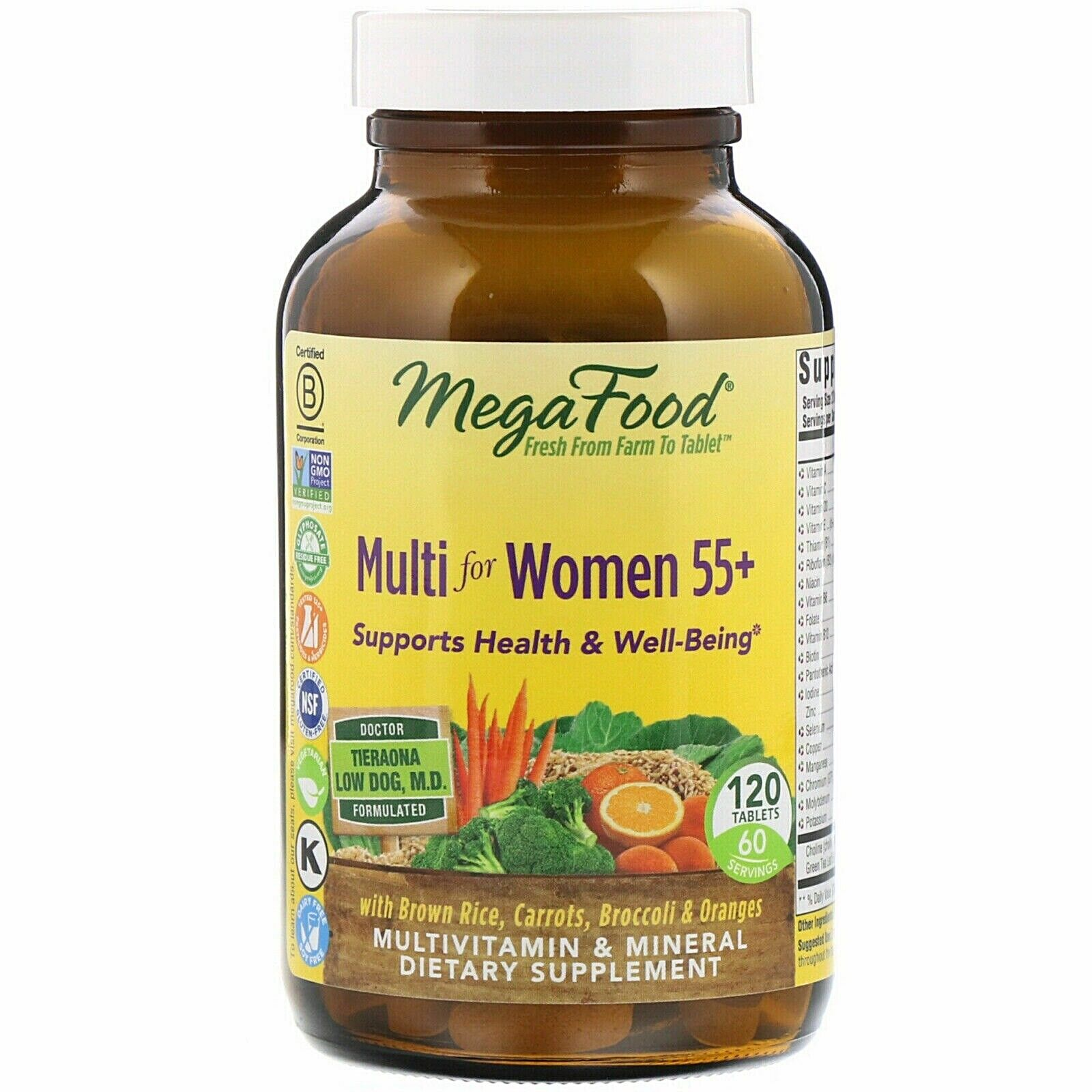 Exp 4/2022 MegaFood Multi for Women Over 55 +( plus) 120 Tablets