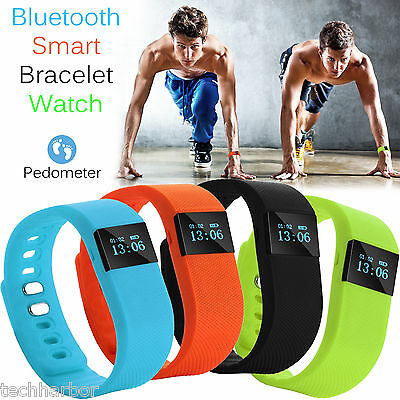 TW64 Smart Bracelet Pedometer Wristband Bluetooth Watch Activity Fitness Tracker