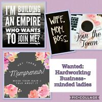 Wanted: Business Minded ladies to work from Home