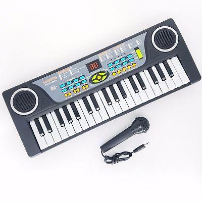 Children 37 Key FM Radio Toy Mic Electronic Keyboard Piano Kids Musical instrume