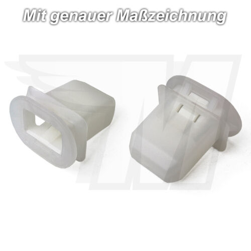 2x Rear Seat Bench Bracket Clips Made of Plastic for Toyota 72693-12080