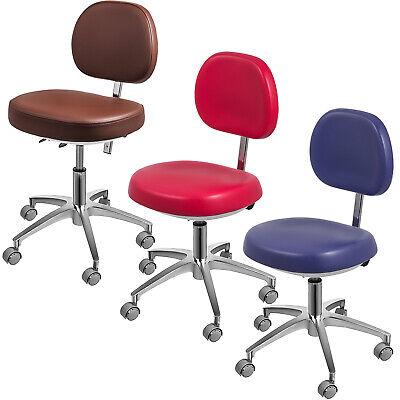 Blueredbrown Dental Medical Chair Stool 360 Mobile Rotation Adjustable