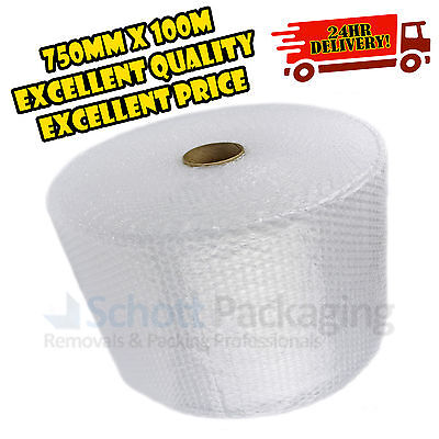 750mm x 100m ROLL BUBBLE WRAP 100 METRE SMALL BUBBLE + FAST & FREE 24HR DELIVERY