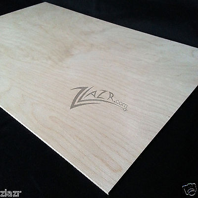 "1 12""×12""×1/32"" THIN Wood Sheets Craft Plywood Birch Wooden Supply Plywood USA!"