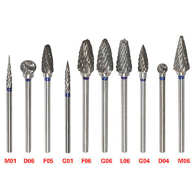 10 Tungsten Steel Dental Burs Lab Burrs Tooth Drill For Handpiece Polisher Hp