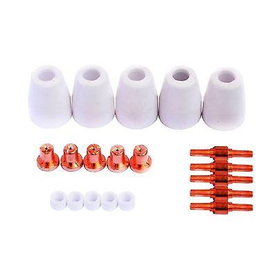 Lotos Plasma Cutter Consumables 20pc Lcon20 For Lt5000d Ct520d Lt3200 Lt3500