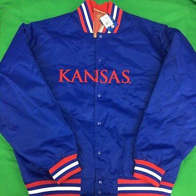 Authentic Espn College Team Store Kansas Jayhawks Ncaa Satin Jacket Sz 2Xl Nwts