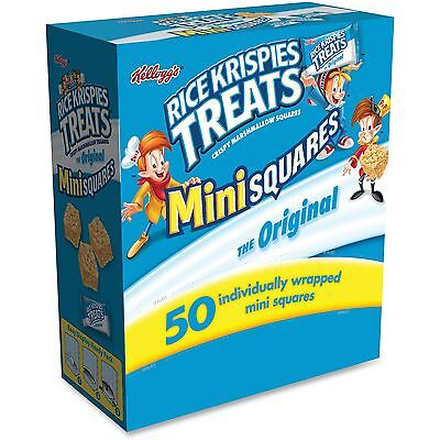 Kelloggs Rice krispies Treats Orig Mini Squares 50/BX Blue 12346 - Blue Rice Krispie Treats