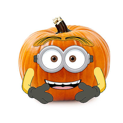 Pumpkin Minion Halloween (Despicable Me Minions Wood Pumpkin Decoration Push-In Halloween)