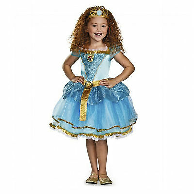 Toddler Girl's Disney Princess Merida Brave Halloween Costume Tutu Dress XS](Merida Costume Toddler)
