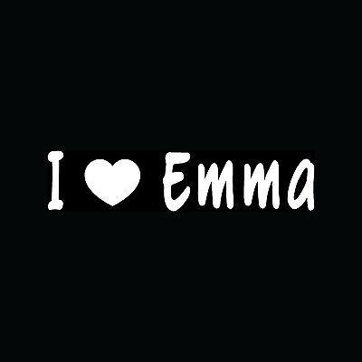 I LOVE EMMA Decal Vinyl Sticker Cute Girlfriend BoyFriend Heart Gift Teen Young - Young Cute Teen
