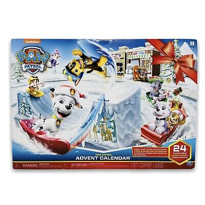 Paw Patrol Advent Calendar 24 Exclusive Gifts Collectible Plastic Figures 2018