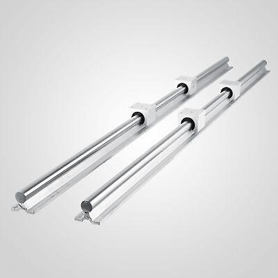 New Sbr12 1500mm Supported Linear Rail Shaft Rod With 4 Pcs Sbr12uu
