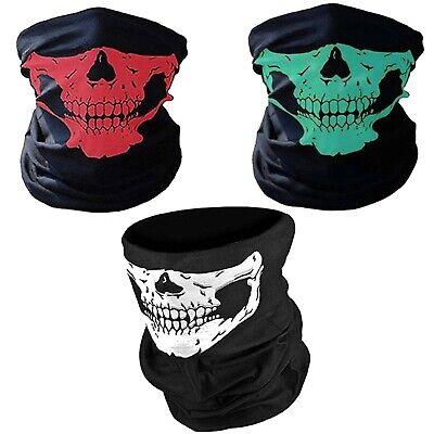 Biker Skull Polyester Face Tube Mask Balaclava Headwear Infinity Cowl Snood