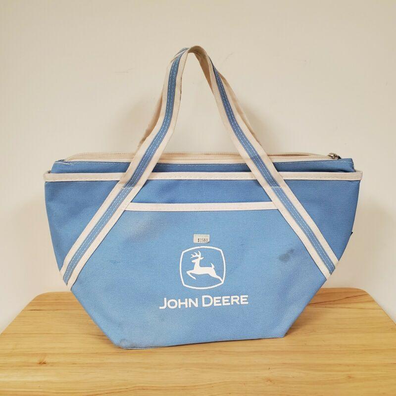 New John Deere Blue Zip Up Soft Lunch Box