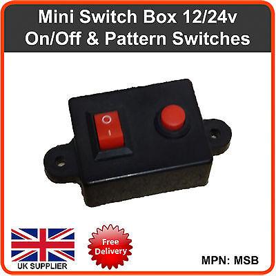 Caja de Interruptor 12v 24v Barras Luminosas Balizas Intermitente LED