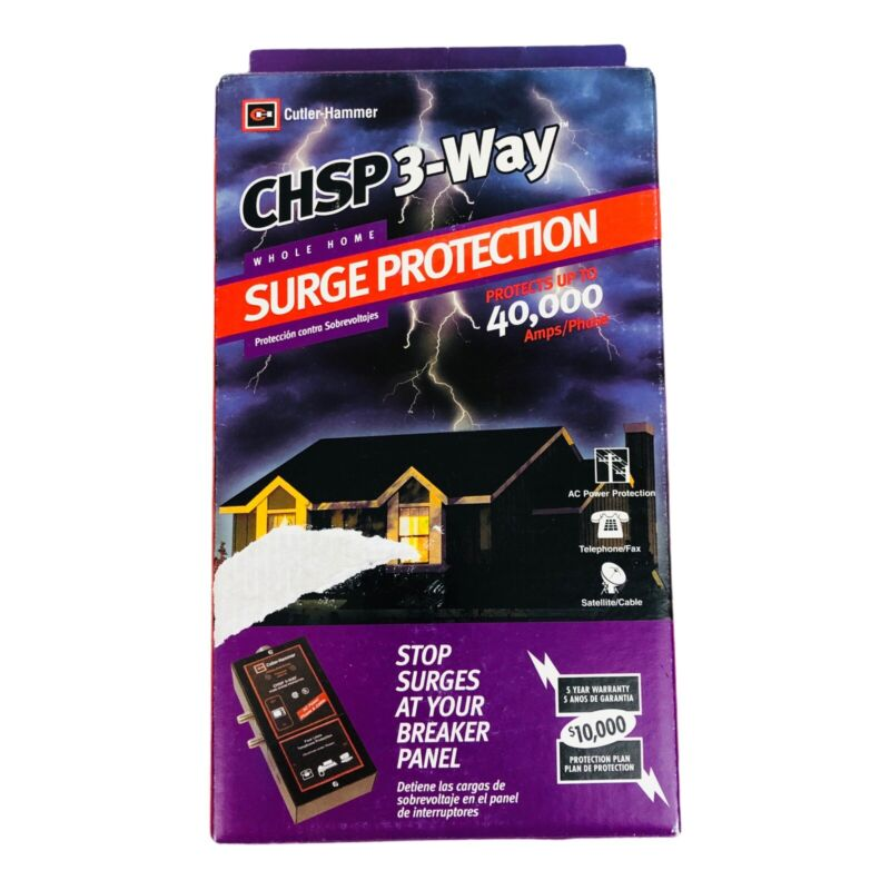 Cutler-Hammer CHSP 3-Way Breaker Panel Surge Protections Whole Home 40k Amps