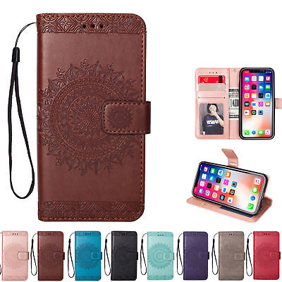 Floral Womens Wallet (Womens Flip Magnetic Wallet Case Floral Print Cover For iPhone 5S 6S 7 8 Plus)