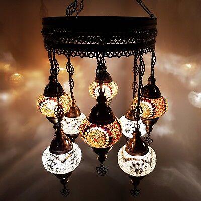 Turkish Marokkanische Arabisch Glasmosaik Kronleuchter Lampen Licht 8 - Glas 1 Licht Kronleuchter