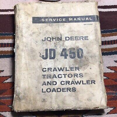 John Deere Jd 450 Service Manual Sm-2064 1967 Crawler Tractor Loader Vintage Oem