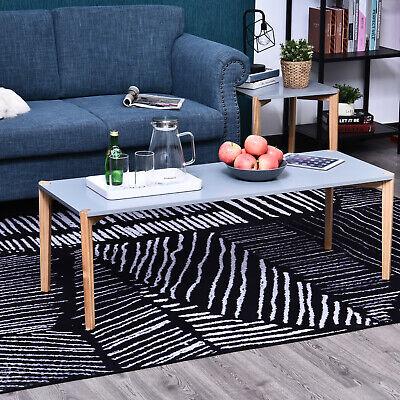 Modern Style Rectangular Living Room Coffee Table Solid Wood Legs - 120cm