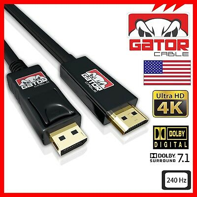 4K DisplayPort DP to HDMI 240Hz 2160P 18Gbps HDR Audio Video Cable Adapter 10FT, usado segunda mano  Embacar hacia Argentina