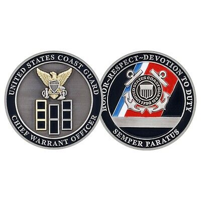 """USCG COAST GUARD CHIEF WARRANT OFFICER 1.75""""  CHALLENGE COIN"""