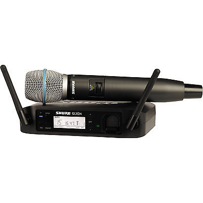 Shure GLXD24/B87A-Z2 Digital 2.4GHz Wireless Handheld w/ Beta 87 | Z2 Band | NEW