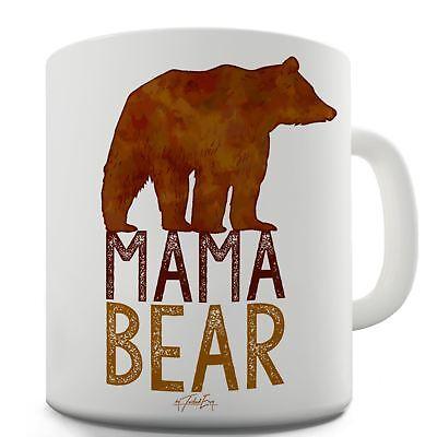 Mama Bear Silhouette Ceramic Funny Mug Bear Ceramic Coffee Mug