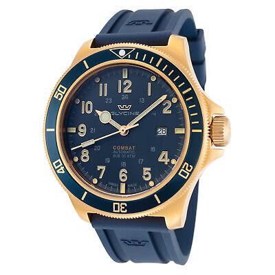Glycine Men's Combat Sub GL0282 46mm Dark Blue Dial Silicone Watch