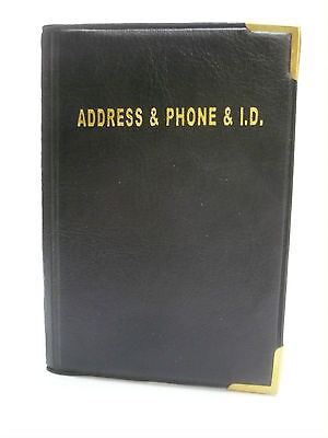 SET OF 2 LITTLE BLACK BOOKS CREDIT CARD HOLDER WITH REMOVEABLE ADDRESS PHOTO ID