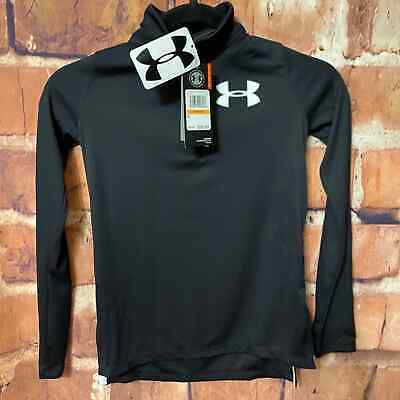 Under Armour long-Sleeve Pullover Girl YSML Black Light Weight Zip-UP