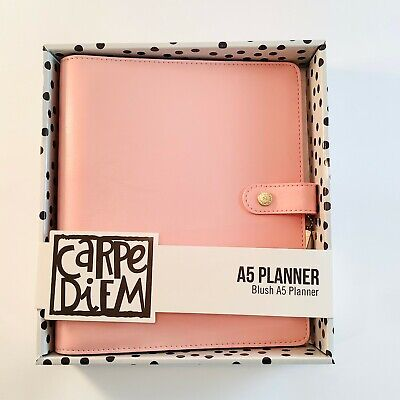Carpe Diem Planner A5 Planner 6 Ring Binder Blush Large Agenda Pink