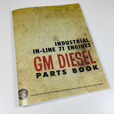 DETROIT IN LINE 71 SERIES DIESEL ENGINES PARTS MANUAL CATALOG 3-71 4-71 6-71 Diesel Parts Catalog