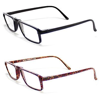 - Retro Small Wayfarer Plastic Clear Lens Reading Glasses Various Strength Colors