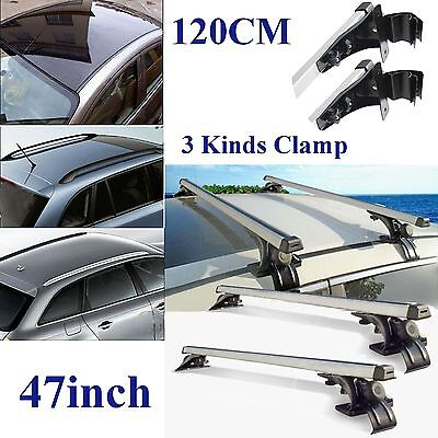 """47"""" Universal Car Top Roof Rack Cross Bars Luggage Carrier Mount SUV Truck Jeep"""