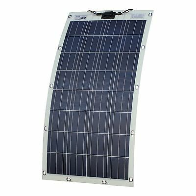 130W Semi-flexible Solar Panel for Motorhome,RV,Boat with Eyelets and Fasteners