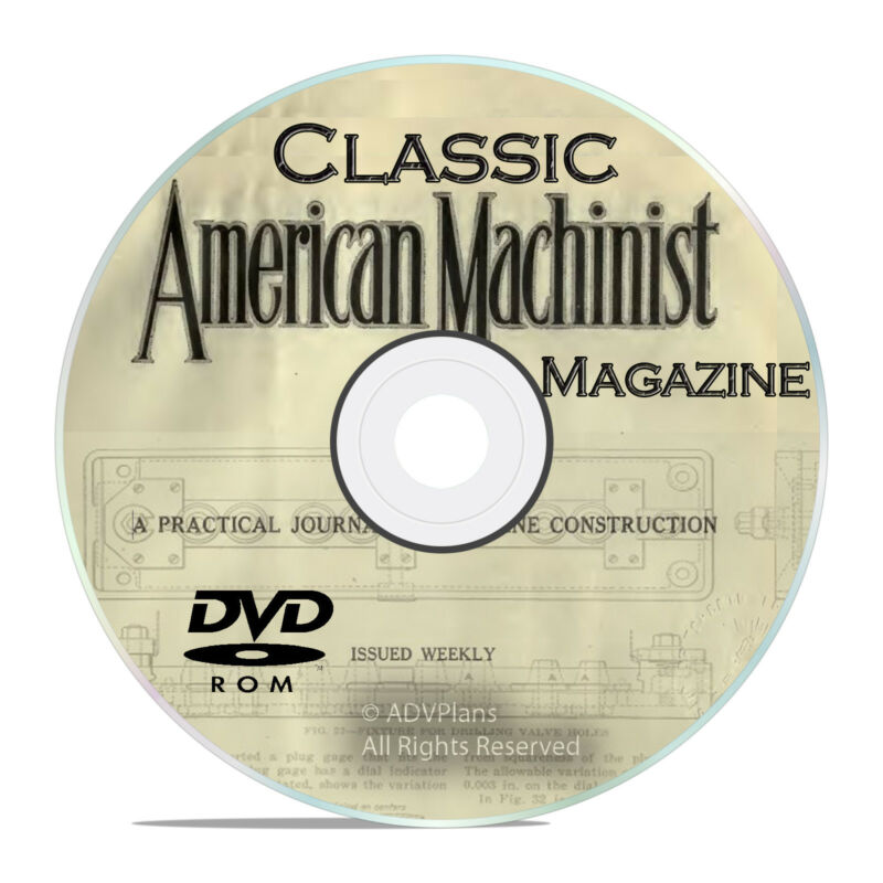 Classic American Machinist Magazine Collection, Machinist Guide Books DVD V27