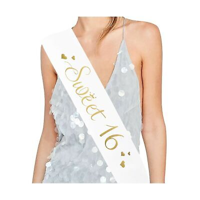 Sweet 16 Satin Sash -16 Birthday Sash 16 Birthday Gift Birthday Party Favors,...