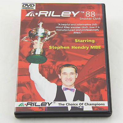 Riley Snooker Cloth Fitting DVD Starring Stephen Hendry