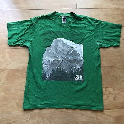 The North Face Never Stop Exploring Green Shirt Men's Size Large Authentic