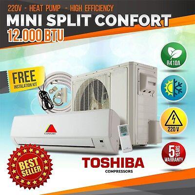 12000 BTU Mini Split  System Ductless AC 15Seer Heat Pump 220V