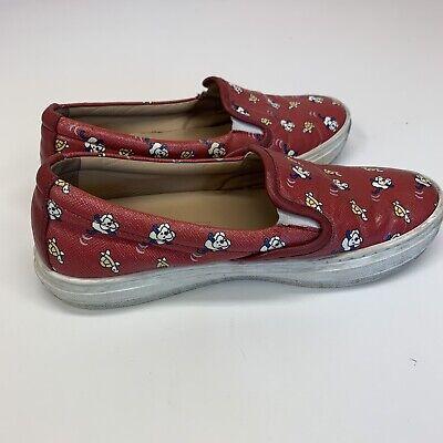 Salvatore Ferragamo Kids Size 11.5 Slip On Sneakers Red White Dog Turtle 29
