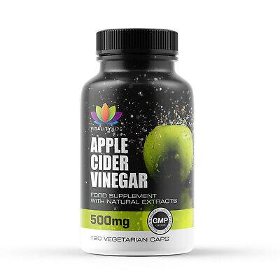 Apple Cider Vinegar 120 Capsule 1000mg Daily - Weight Loss - Mother - Detox - UK