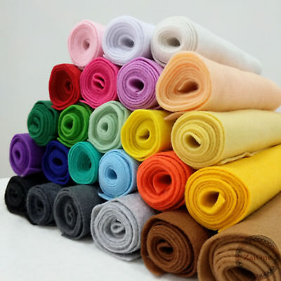 Roll By The Yard Soft Felt Fabric Non Woven Sheet Patchwork Craft DIY - Fabric Roll