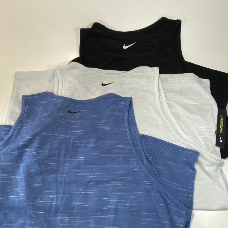 Nike DryFit Ladies Training Tank Tops LOT OF 3 LARGE FREE SHIPPING BLK BLU Gray