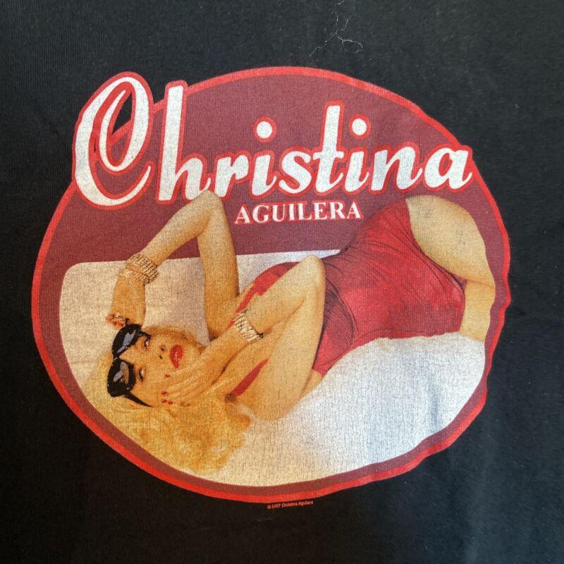 CHRISTINA AGUILERA BACK TO BASICS TOUR 2007 CONCERT T-SHIRT S Mickey Mouse Club
