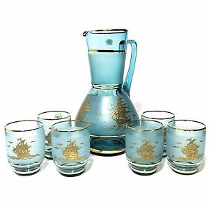 Vintage Bohemian Glass Jug and Glasses Highgate Perth City Area Preview