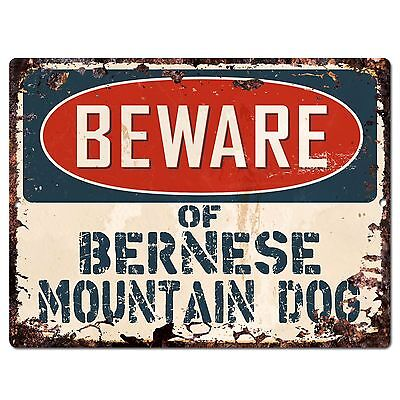 PP1529 Beware of BERNESE MOUNTAIN DOG Plate Chic Sign Home Store Wall Decor Gift