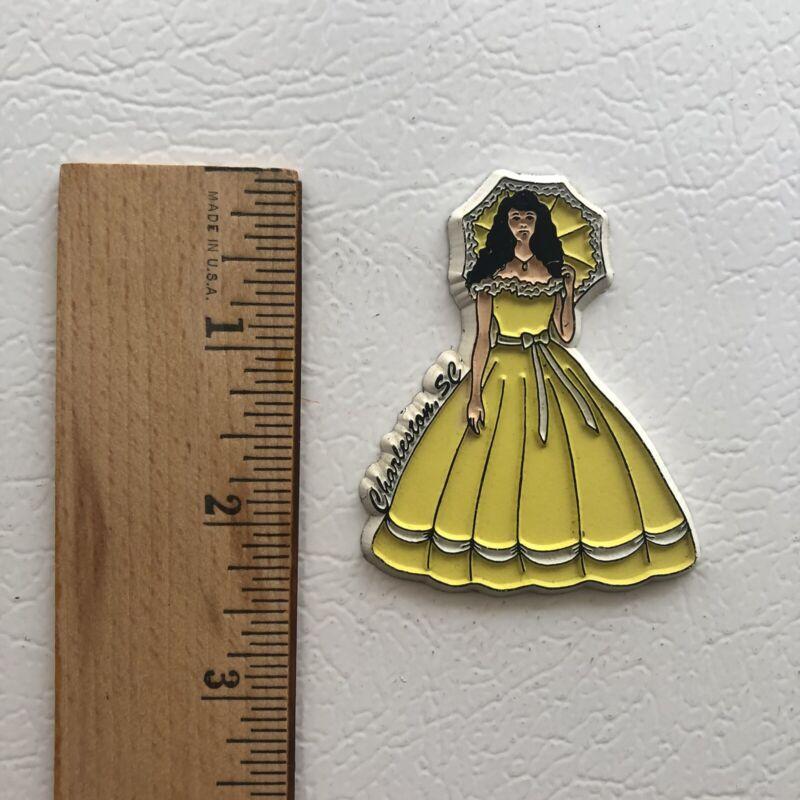 Charleston South Carolina Yellow Belle Vintage Rubber Refrigerator Fridge Magnet